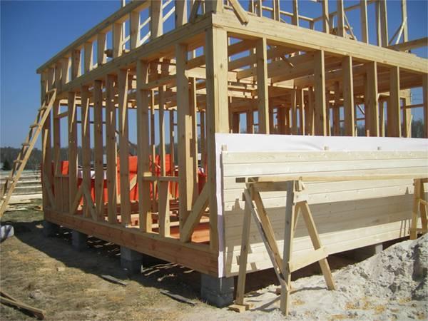Возведение столбчатого фундамента своими руками для каркасного дома