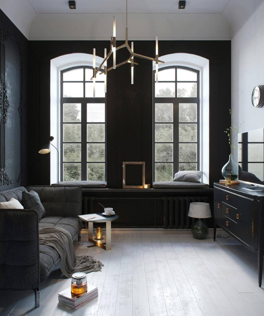 Черный цвет в интерьере:185+ (фото) сочетаний черного дизайна