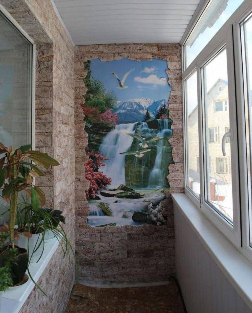 Декоративный камень в отделке балкона, преимущества и виды