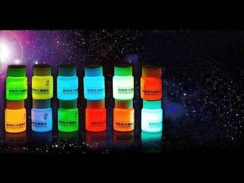 Как сделать светящуюся краску в домашних условиях, люминесцентная, флуоресцентная краска своими руками