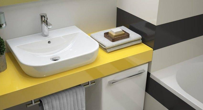 Как крепить раковину к тумбочке в ванной - установка умывальника