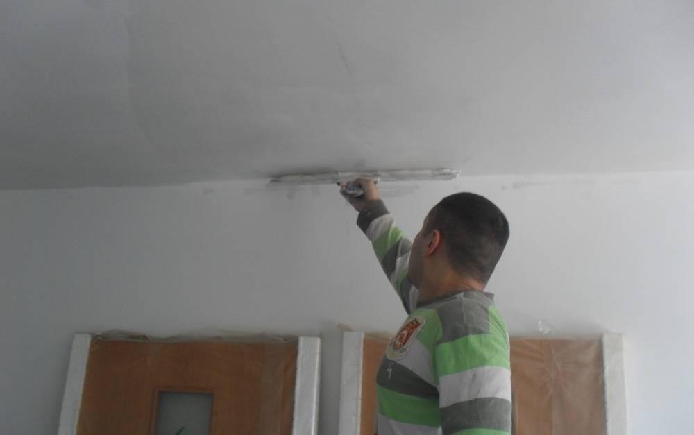 Шпаклевка потолка из гипсокартона под покраску: отделка, как шпаклевать гипсокартон на потолке, как зашпаклевать гкл, подготовка, шпаклевание