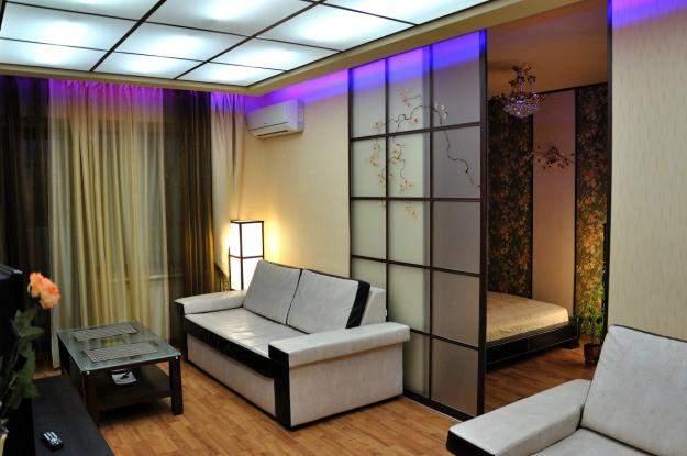 Зонирование комнаты на спальню и гостиную — дизайн и наполнение