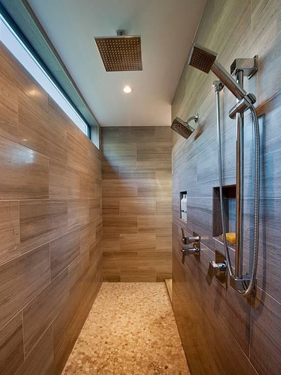 Как оформить стены в ванной с помощью линолеума