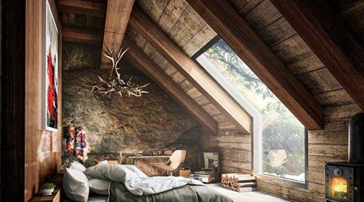 Комфортное, стильное обустройство мансарды частного дома