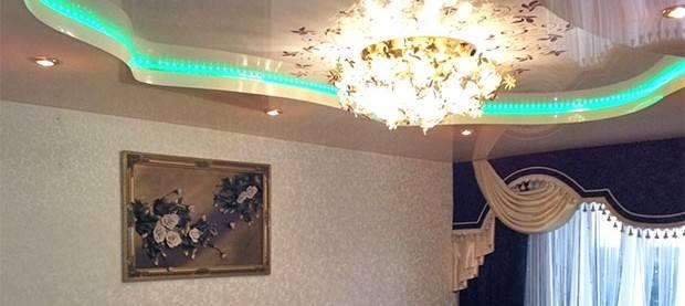 Подсветка потолка светодиодной лентой – на что обратить внимание и какие варианты монтажа существуют