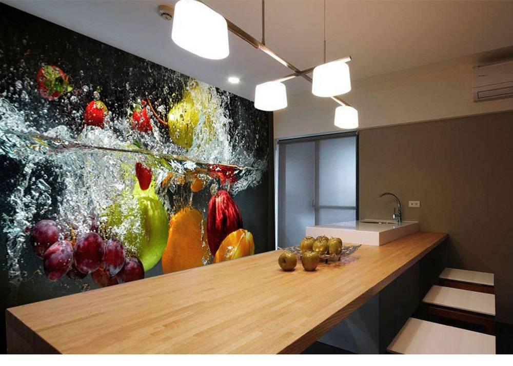 3d фотообои на кухни - интересные идеи  (54 фото): дизайн стереоскопических моделей с орхидеей на стену в интерьере