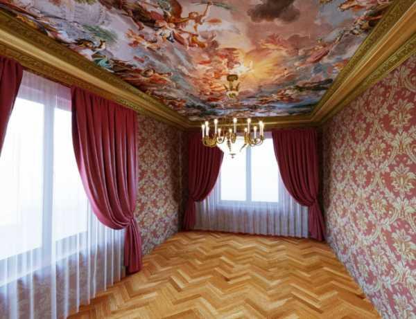 Как выбрать натяжные потолки: фото, виды, цвета, рисунки, декор, оригинальные формы, освещение