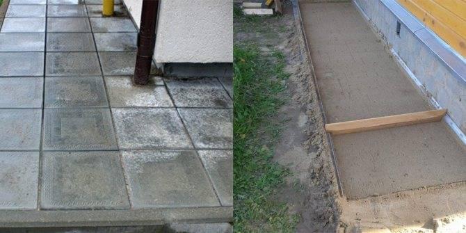 Как сделать отмостку из тротуарной плитки?