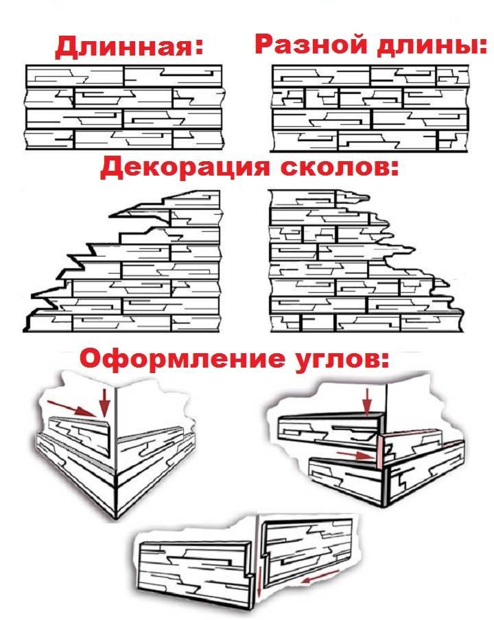 Как правильно клеить декоративный камень на обои: этапы работ