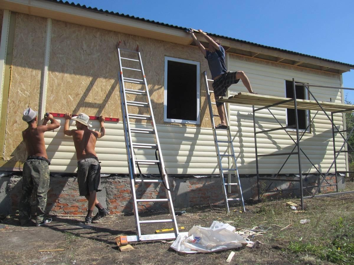 Внешняя отделка дома из сип панелей