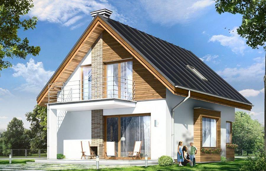 Ломаные крыши частных домов: 70 фото экстерьера дома