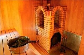 Отделка печи в бане: облицовка кирпичом, декоративным камнем, плиткой портала банной печки, чем отделать лучше, фото и видео
