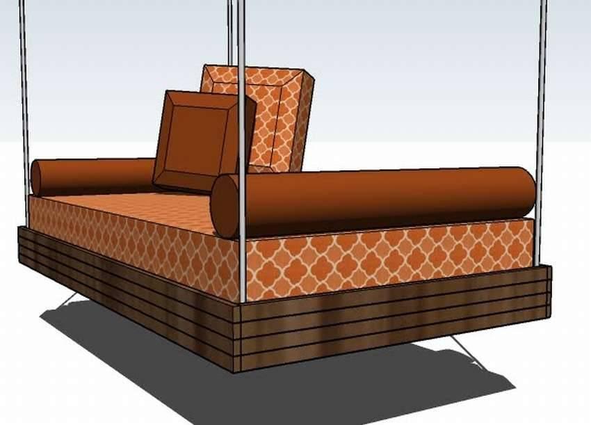 Подвесная кровать к стене - преимущества, недостатки и самостоятельное создание