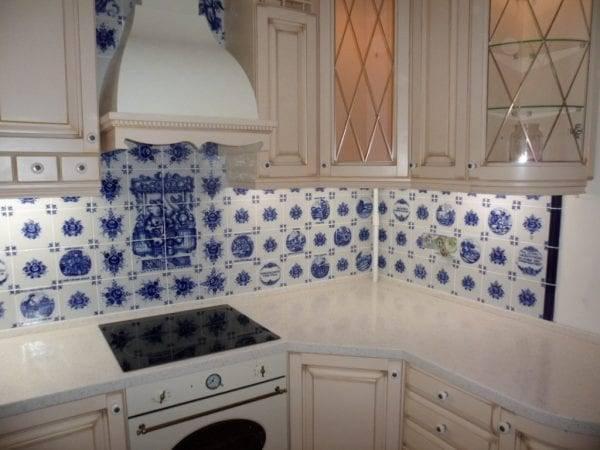 Плитка для кухни на фартук: обычная белая, кабанчик, гжель или другой вид