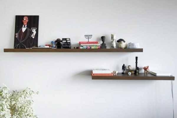 Крепления для полок на стену: потайные и видимые, как их правильно повесить
