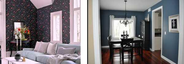Покраска стен в два цвета: интересные варианты (+34 фото)