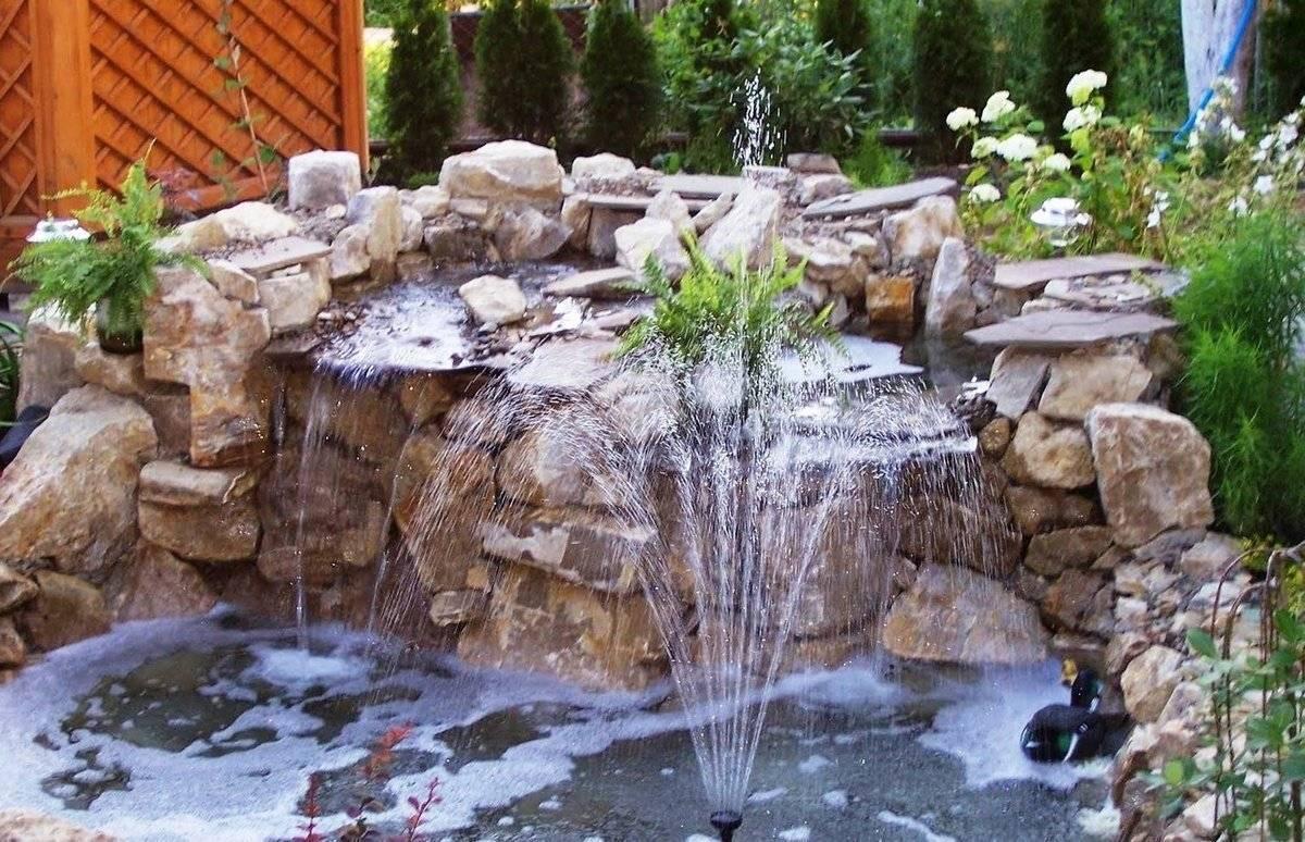 Как сделать водопад на даче своими руками: пошаговая инструкция, фото и видео