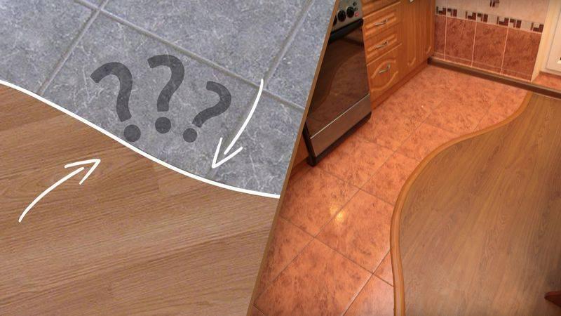 Сочетание плитки и ламината на полу: идеи дизайна для прихожей и кухни
