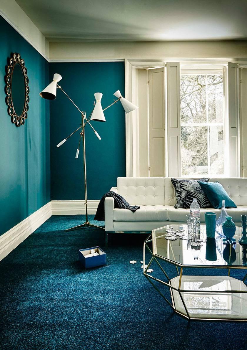 Как оформить гостиную в бирюзовых тонах?