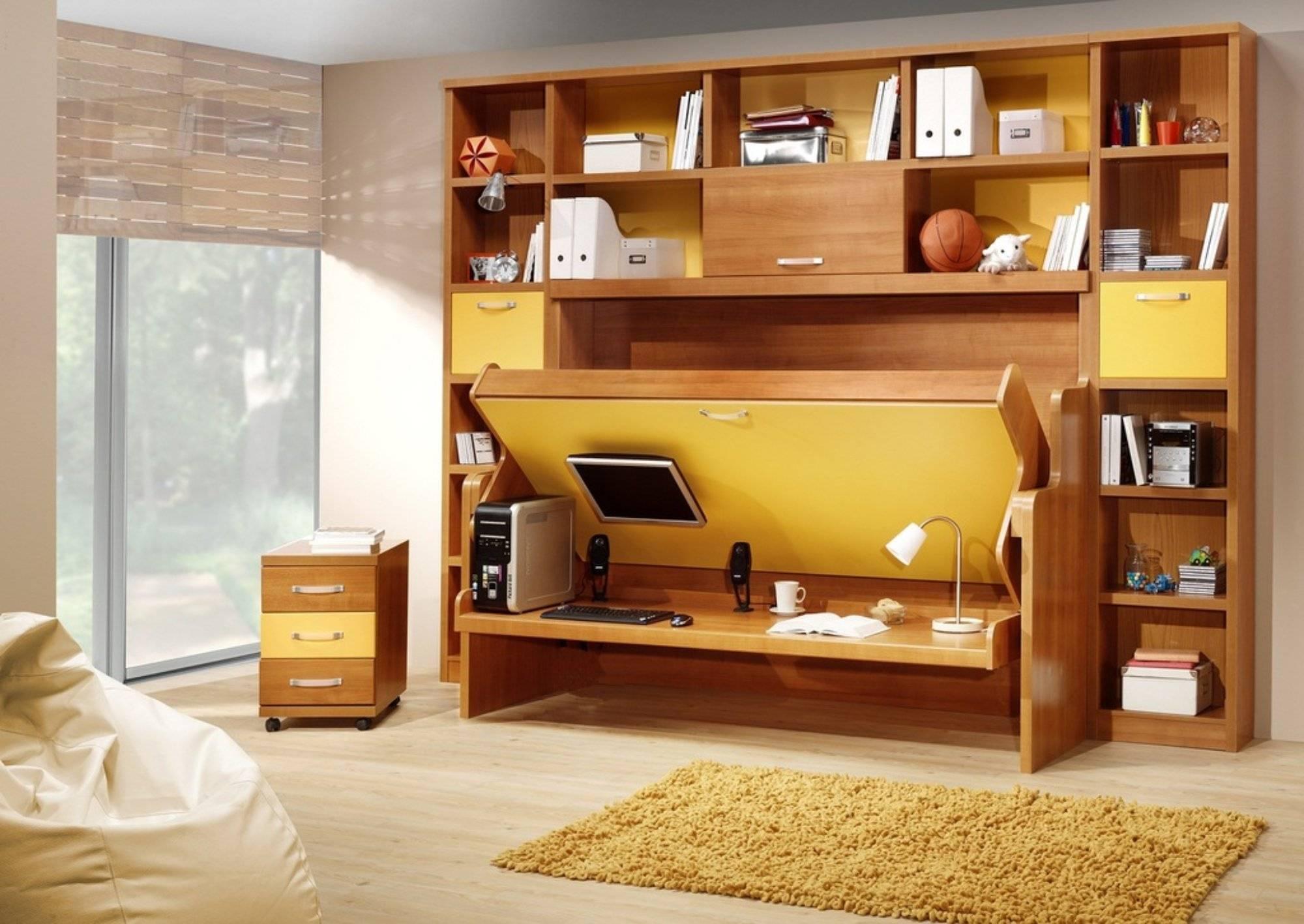 6 вариантов кроватей-трансформеров: виды моделей, достоинства и недостатки, сочетание с интерьером