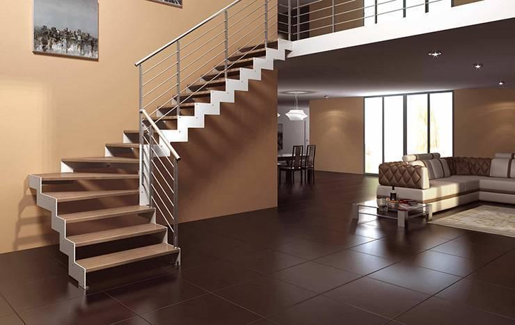 Лестница с поворотом на 180°, с забежными ступенями