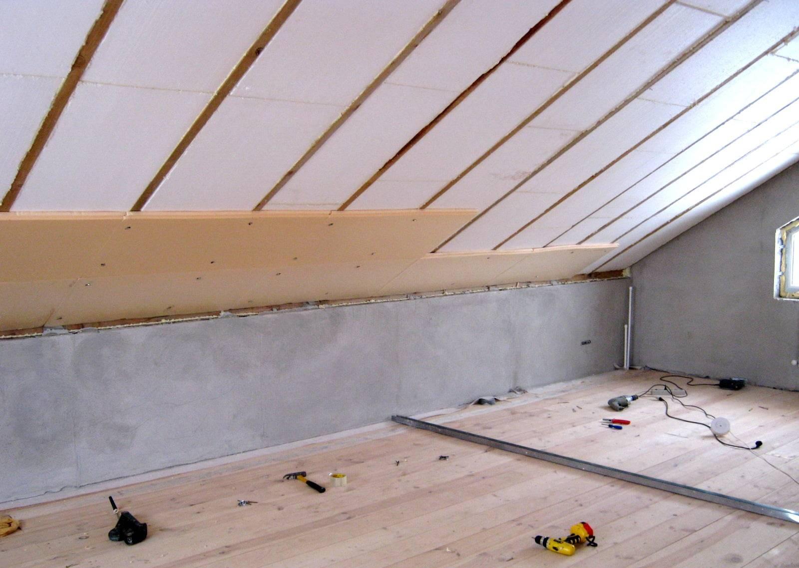 Пенопласт - утеплитель для крыши: можно ли утеплять пеноплексом