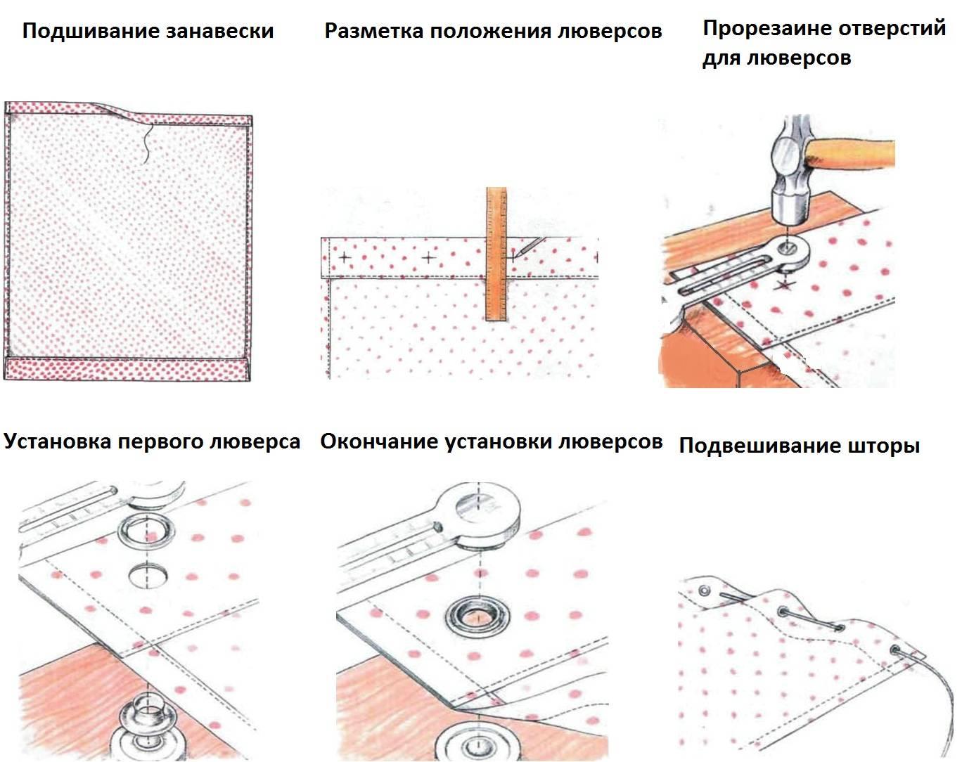 Правила подшива штор собственноручно на машинке