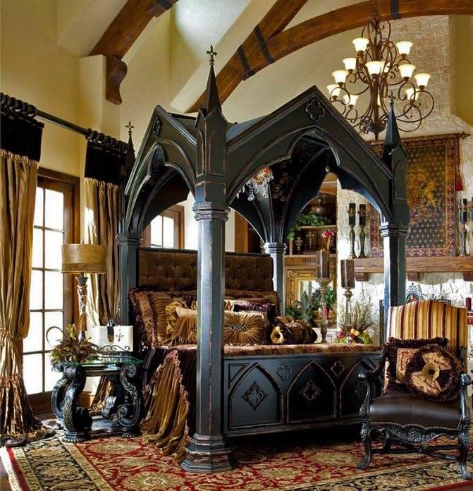 Особенности готического стиля в интерьере: 75 фото красивого дизайна
