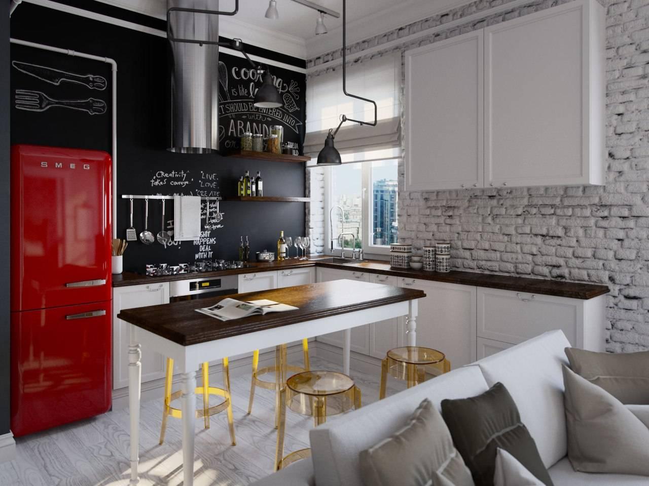 Кухня с раковиной у окна — дизайн и особенности размещения (+ фото идей)