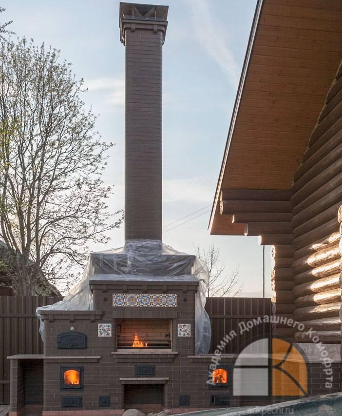 Уличный камин: печи и мангалы, фото и схемы, постройка послойно, барбекю из кирпича и бетона, фото, видео