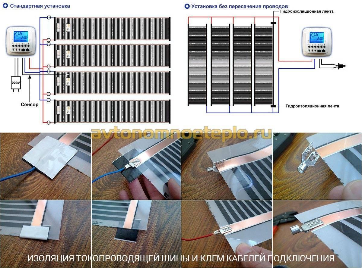 Теплый пол под ламинат на бетонный пол нюансы проектирования подробный монтажный инструктаж