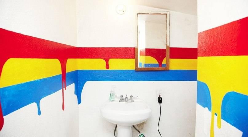Чем покрасить стены в ванной комнате и какой краской