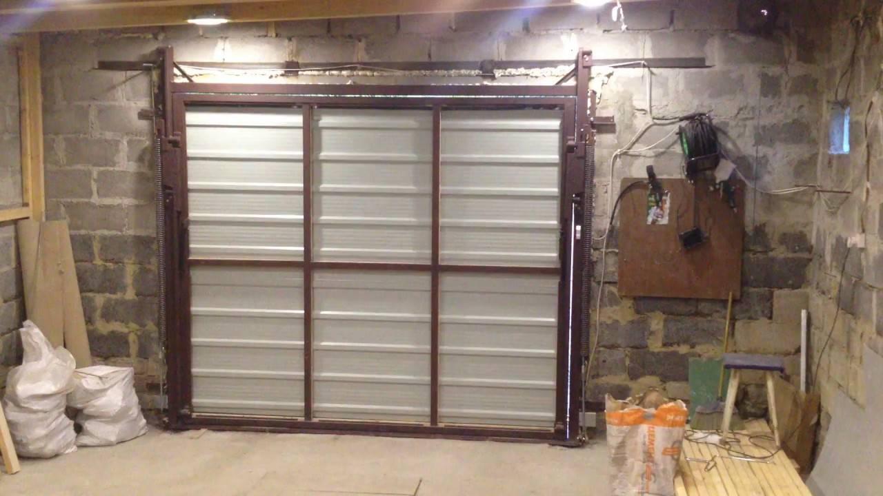 Ворота гаражные подъемные своими руками: виды, изготовление