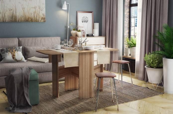 Деревянный стол для кухни: 60+ фото примеров, плюсы и минусы