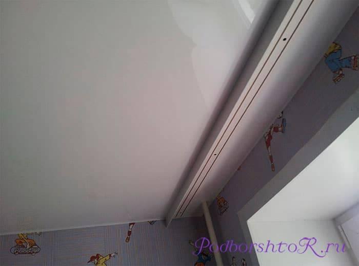 Варианты установки потолочных карнизов для штор под натяжной потолок