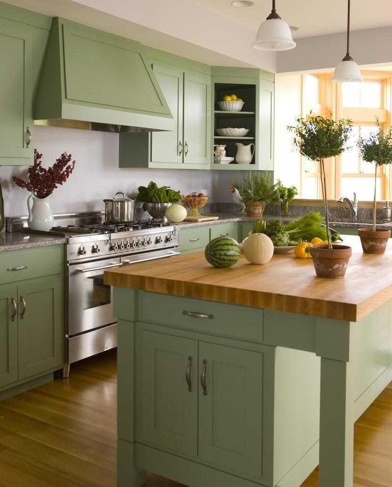 Дизайн кухни в оливковых тонах (фото примеры)