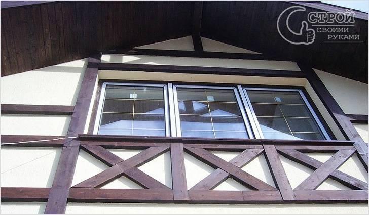 Отделка фасада дома в стиле фахверк своими руками (фахверковый фасад)