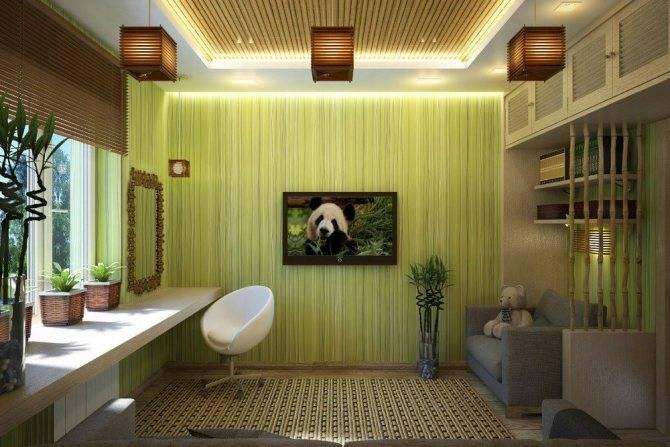 Бамбук в интерьере: 75 современных решений