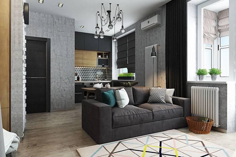 Современный дизайн однокомнатной квартиры: 13 лучших проектов