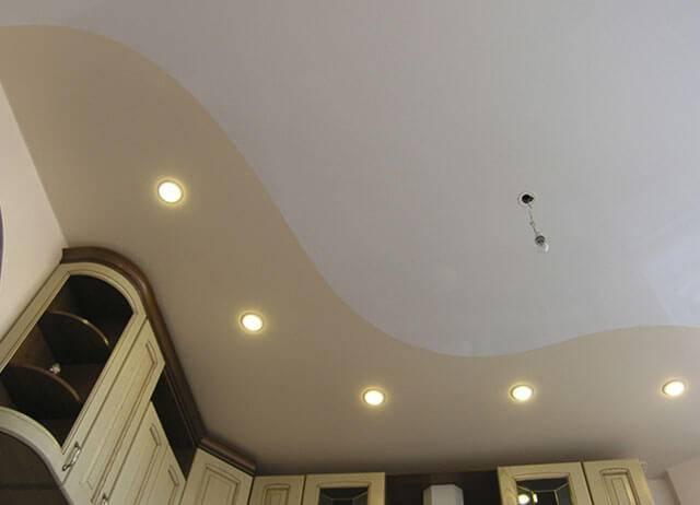 Текстурный натяжной потолок: имитация дерева, штукатурки, парчи, зеркала, бетона, кожи, шелка и др.