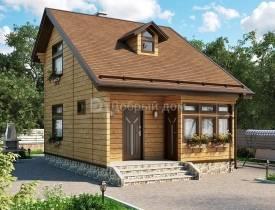 Проект дома с мансардой и балконом 6*6, 8*10 и 9*9 метров