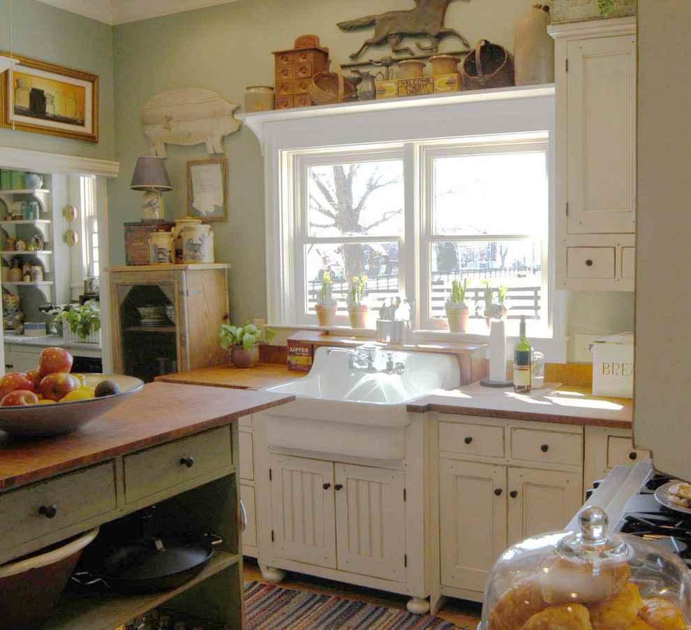 Кухня в стиле кантри: особенности дизайна, отделка и аксессуары (60 фото)