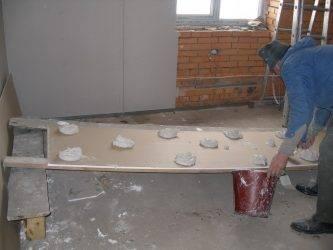 Клеить гипсокартон на стену при помощи клея видео