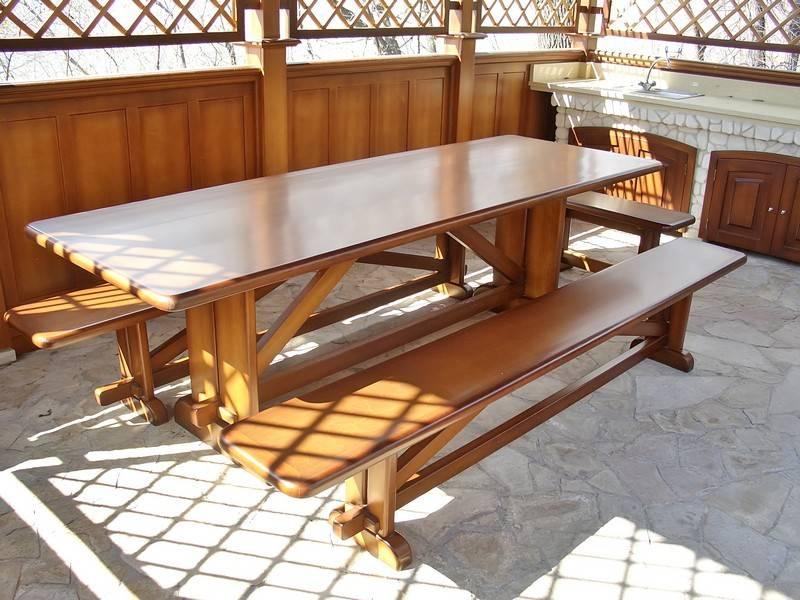 Стол в беседку из дерева: как правильно подобрать стол и сделать его своими руками