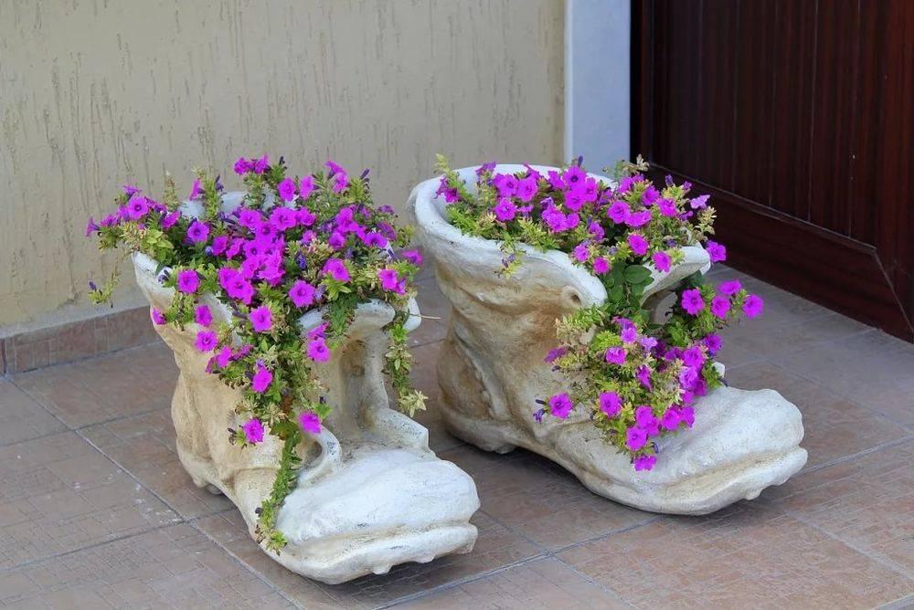 Вазон из бетона своими руками (57 фото): бетонные уличные конструкции для цветов, как сделать цветочницу для сада из цемента и тряпки