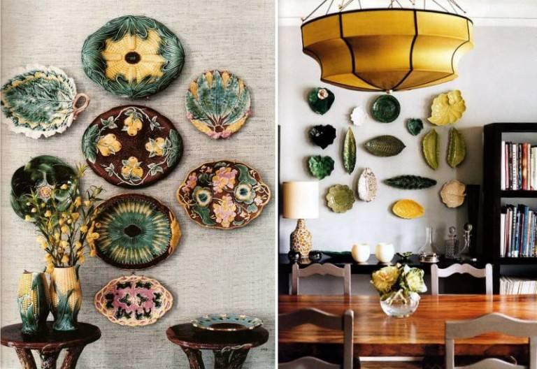 Декоративные тарелки на стену: способы декорирования, 75 фото, видео