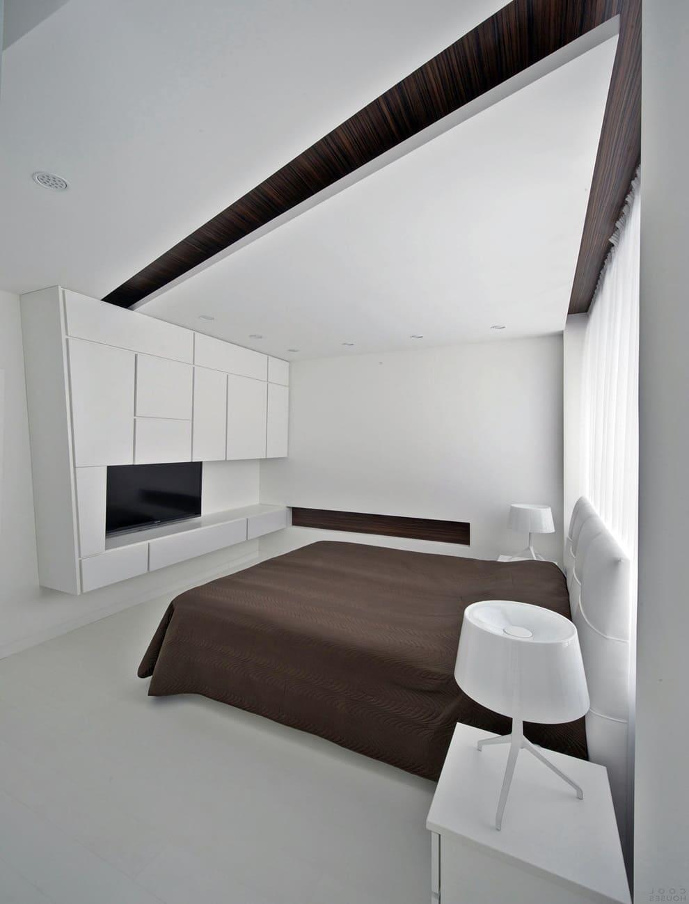 Интерьер и дизайн спальни в стиле минимализм