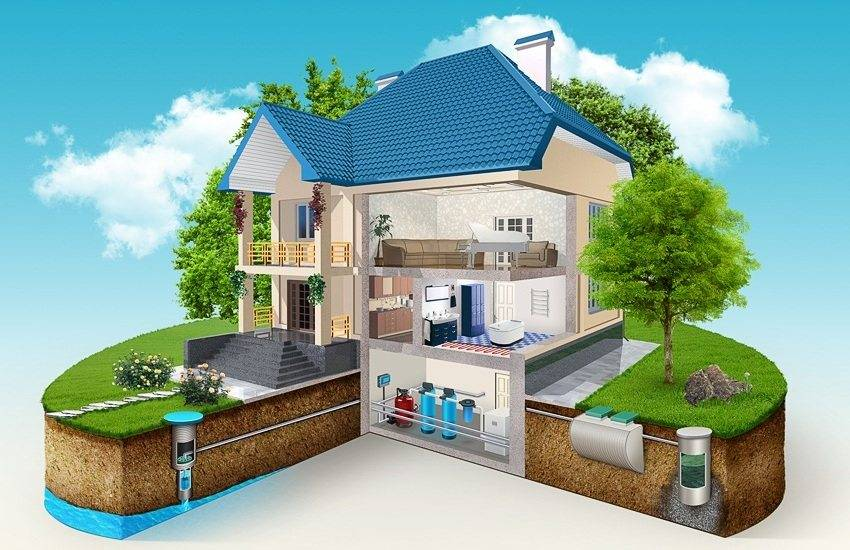 Септик для частного дома своими руками — устройство, схема, установка