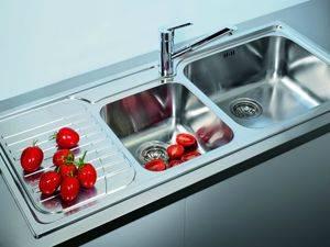 Двойные мойки на кухне: формы, материалы, доп элементы, цены